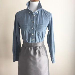 Loft silk skirt | gray | Sz 12
